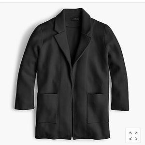 J. Crew Sopih open front sweater blazer black XXS